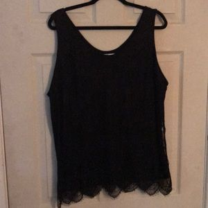 Maurices Black tank top in plus size 1